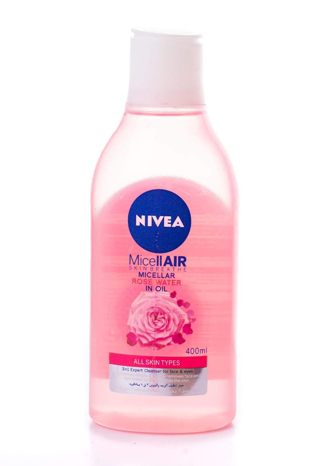 Nivea Micellair Skin Brethe Rose Water In Oile 400ml مزيل المكياج