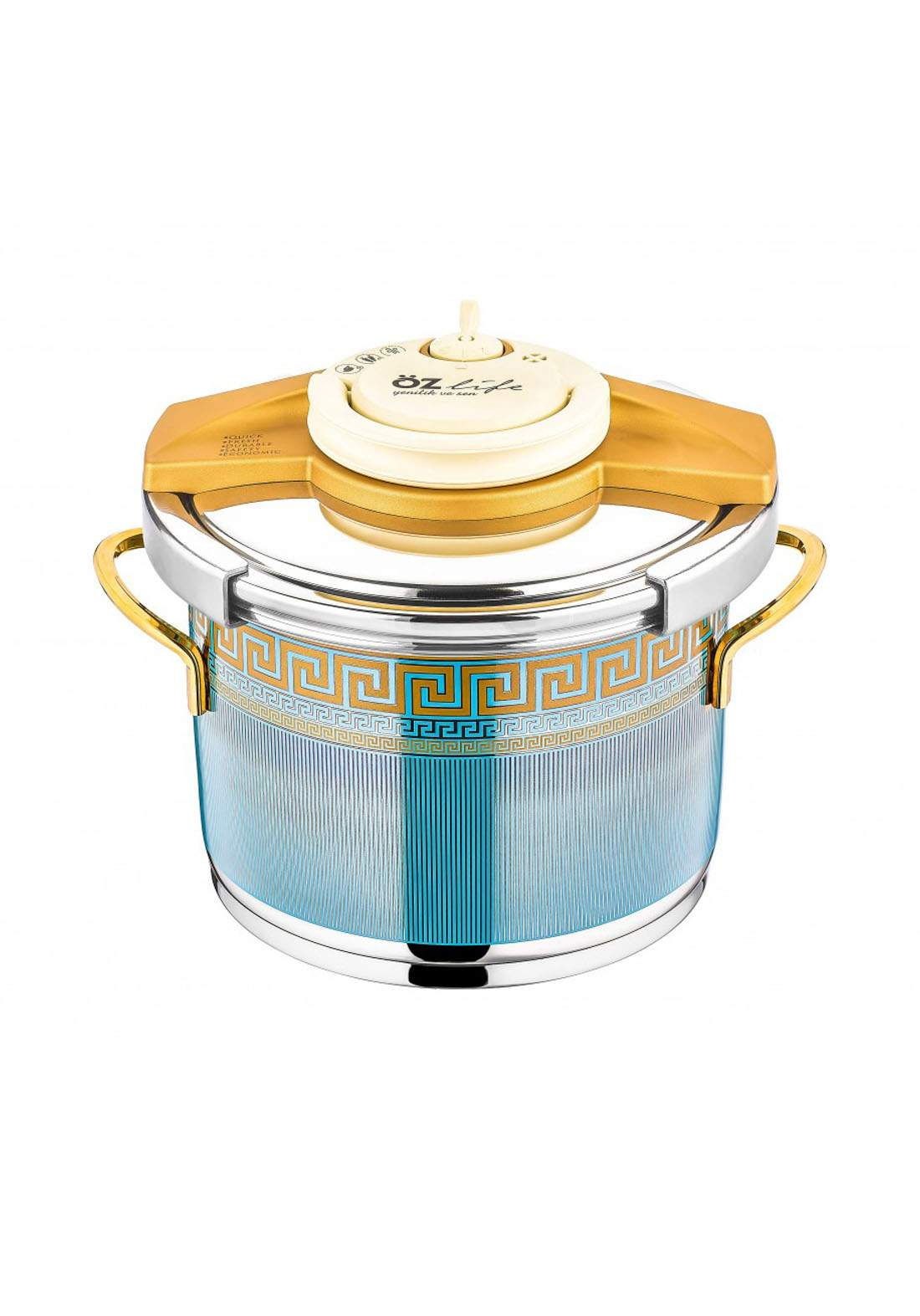 Ozlife Pressure Cooker Decorated 2 Piece  قدر ضغط