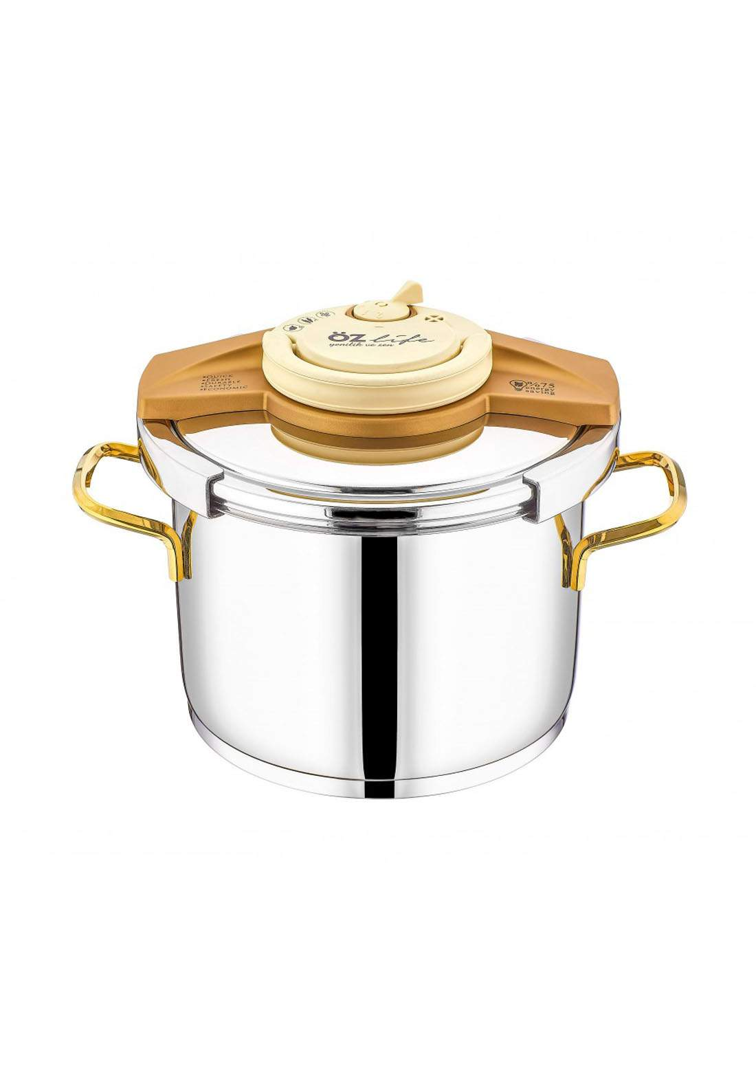 Ozlife Pressure Cooker Gala Gold 2 Piece   قدر ضغط