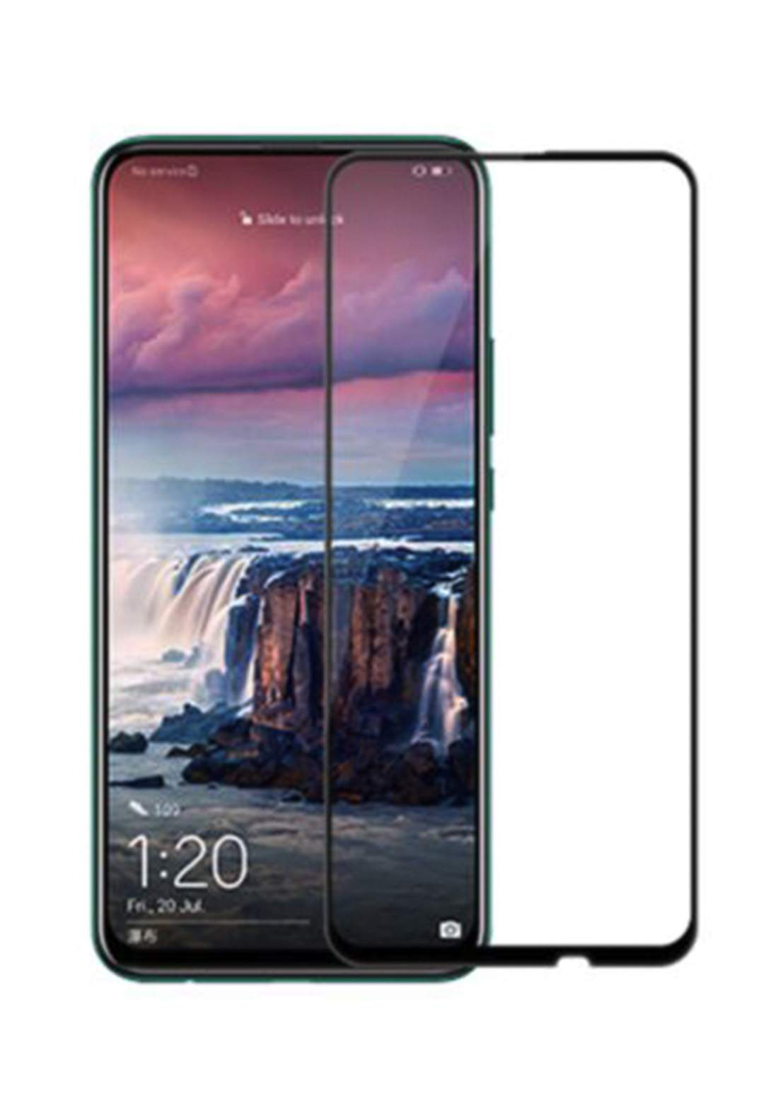 Huawei Y9 Prime Tempered Glass Screen Protector - Black واقي شاشة