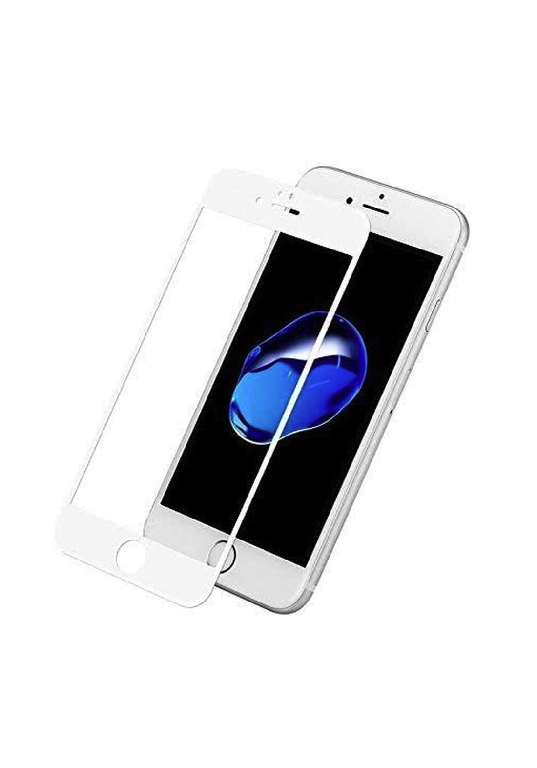 Tempered Glass Screen Protector for iPhone 7G - White واقي شاشة