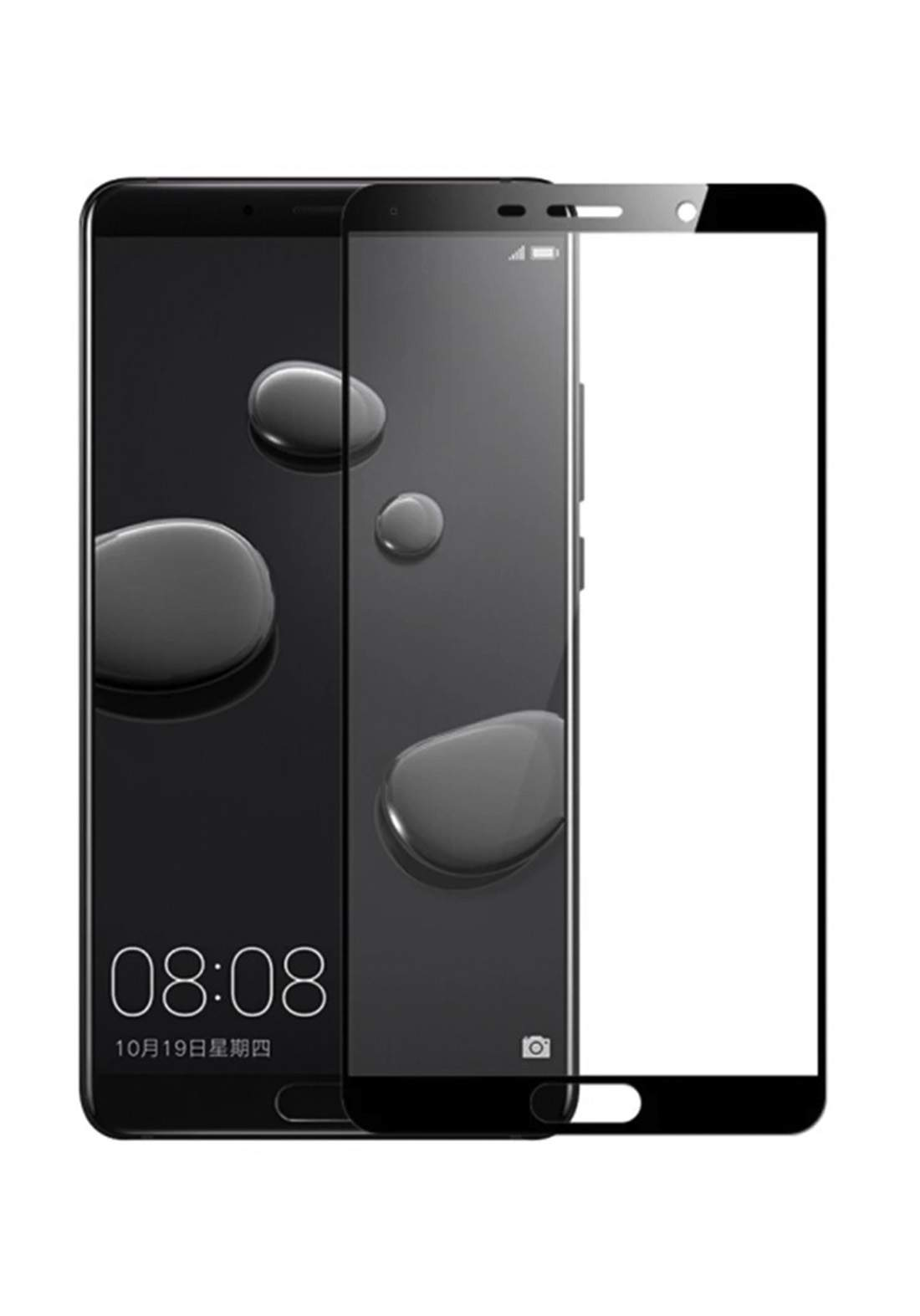 Huawei 10 Pro Tempered Glass Screen Protector - Black واقي شاشة