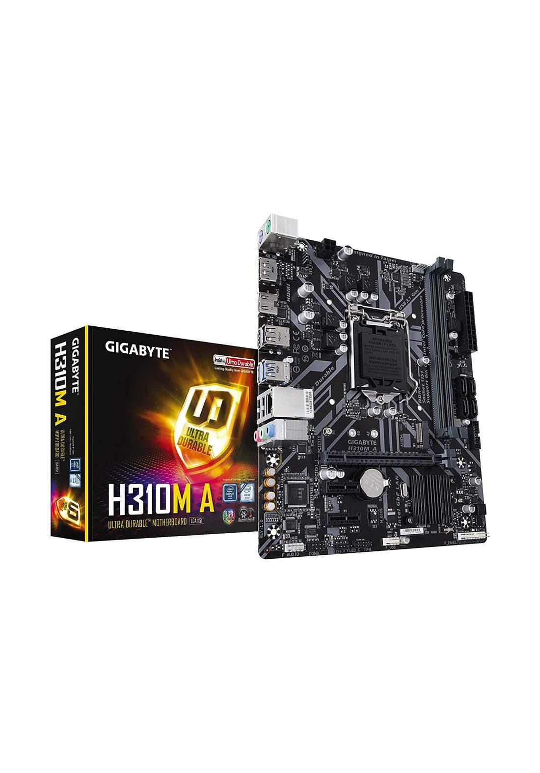 Gigabyte H310MA Motherboard -Black لوحة الام