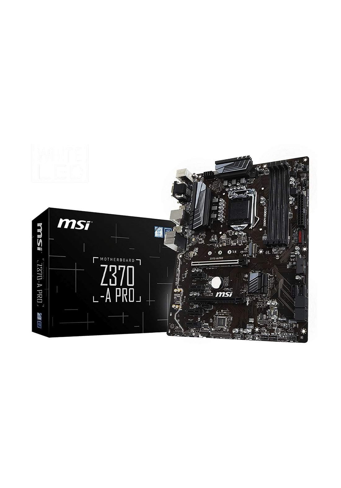 Msi  Z370 A Pro Atx Lga1151 Motherboard لوحة الام