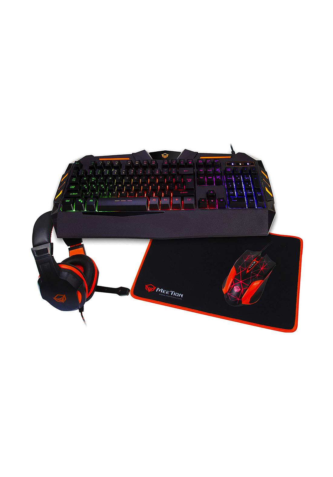 Meetion C500 4 In 1 Gaming Keyboard and Mouse pad with Gaming Headset