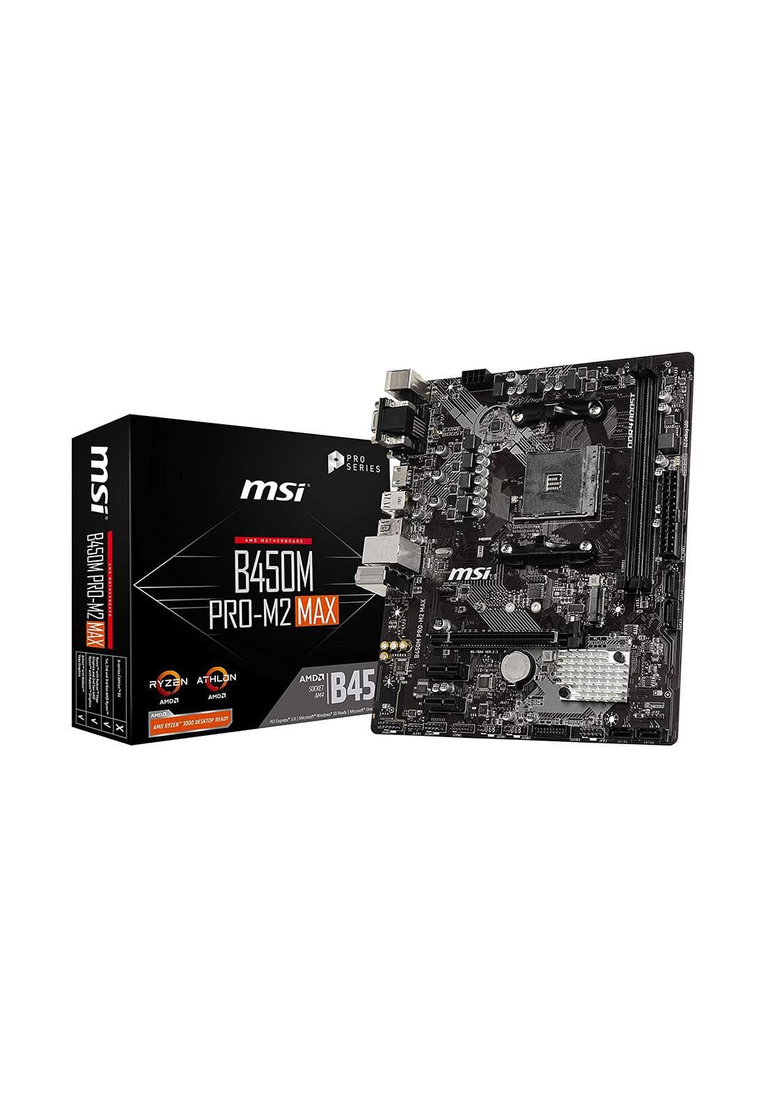 Msi B450M PRO M2 Max Proseries Amd Ryzen 1st And 2ND USB 3 DVI Micro- Motherboard Atx لوحة الام