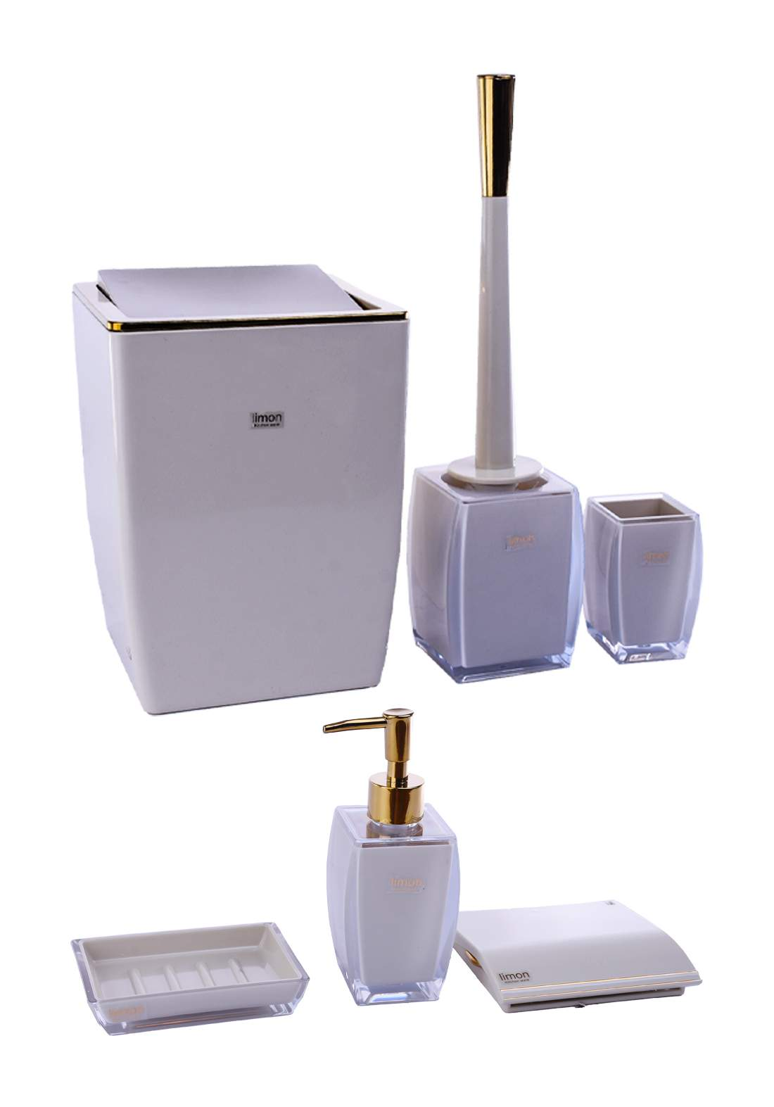 سيت حمام متعدد الاستخدامات بلاستك من ليمون