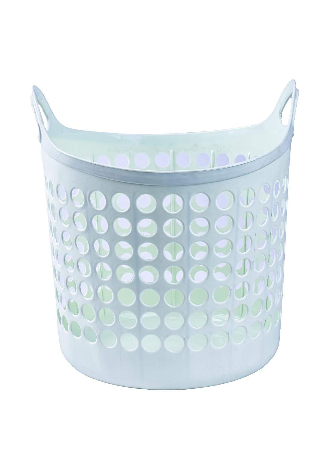 سلة بلاستك متعددة الاستعمال اخضر اللون