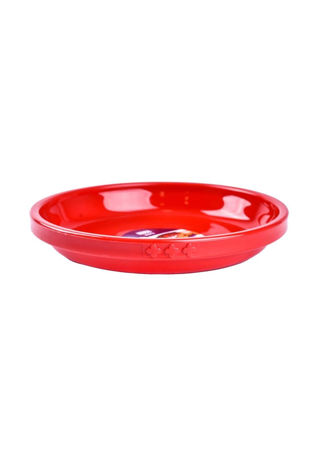 طبق طعام للاطفال احمر  اللون