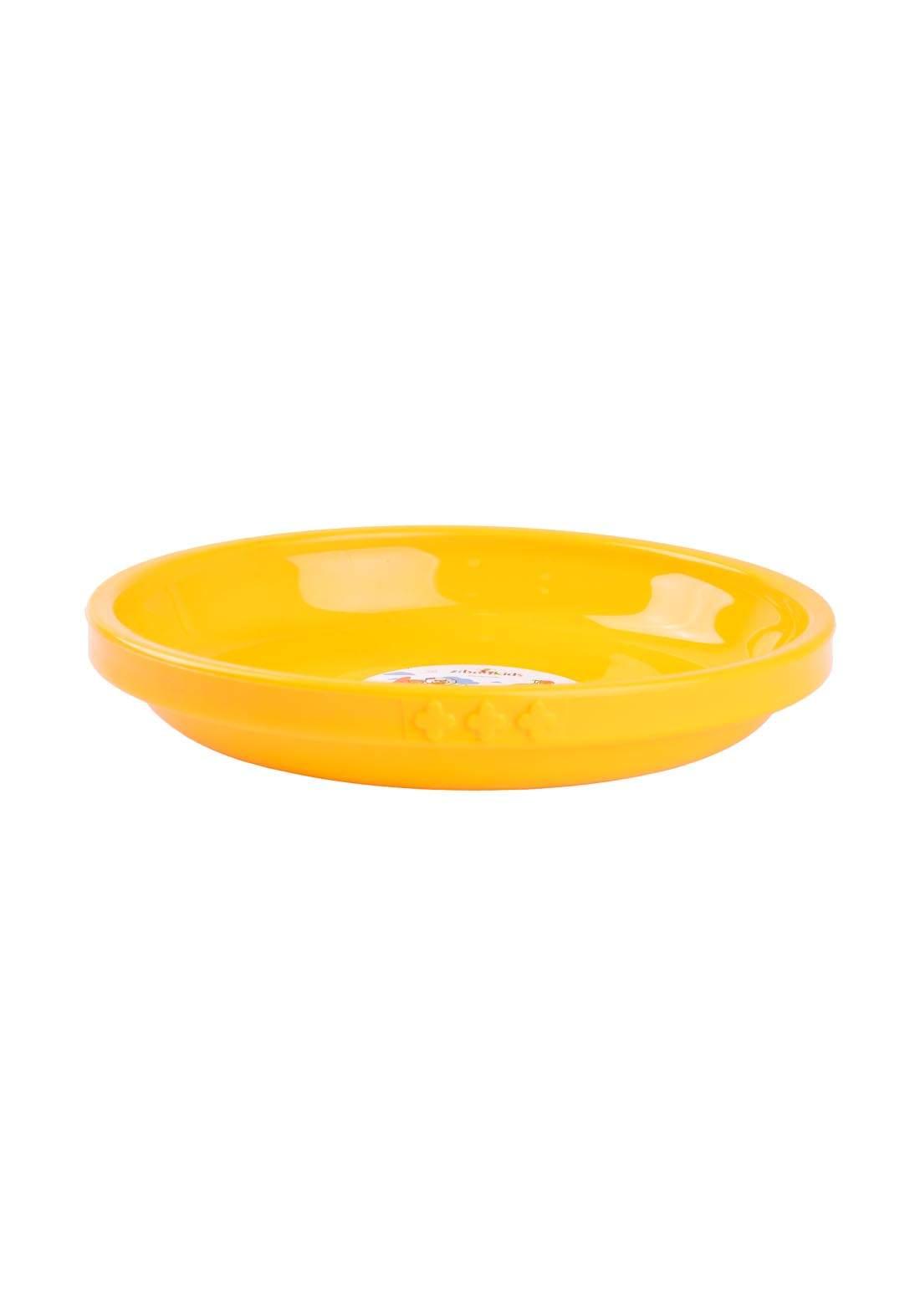 طبق تقديم للاطفال اصفر اللون