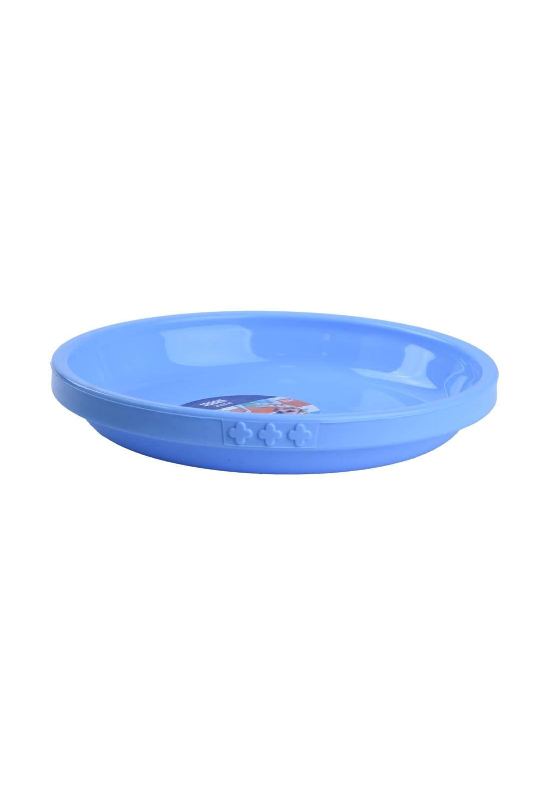 طبق طعام  للاطفال ازرق اللون