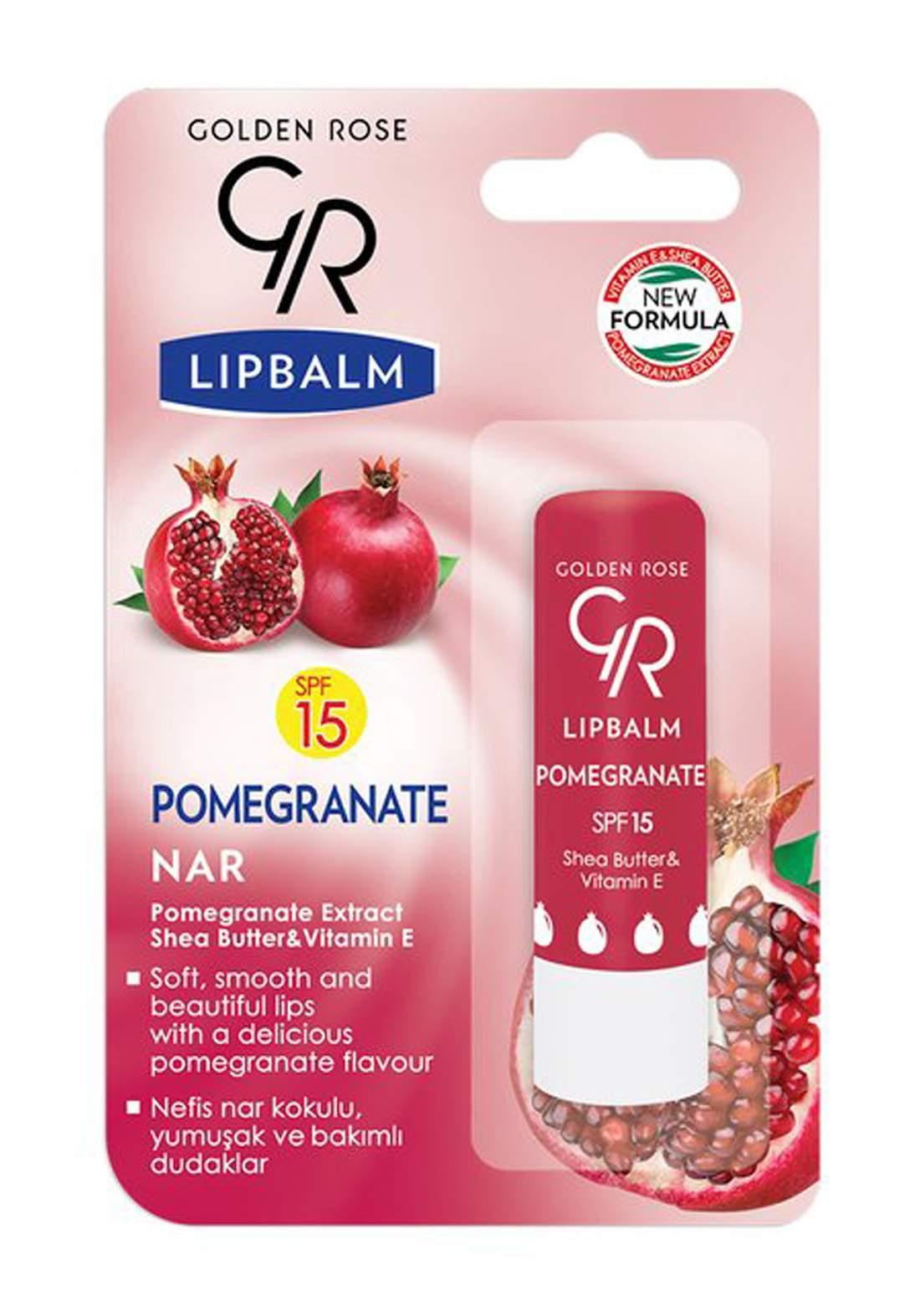 Golden Rose Lip Balm Pomegranate SPF 15 N0.08  مرطب شفاه