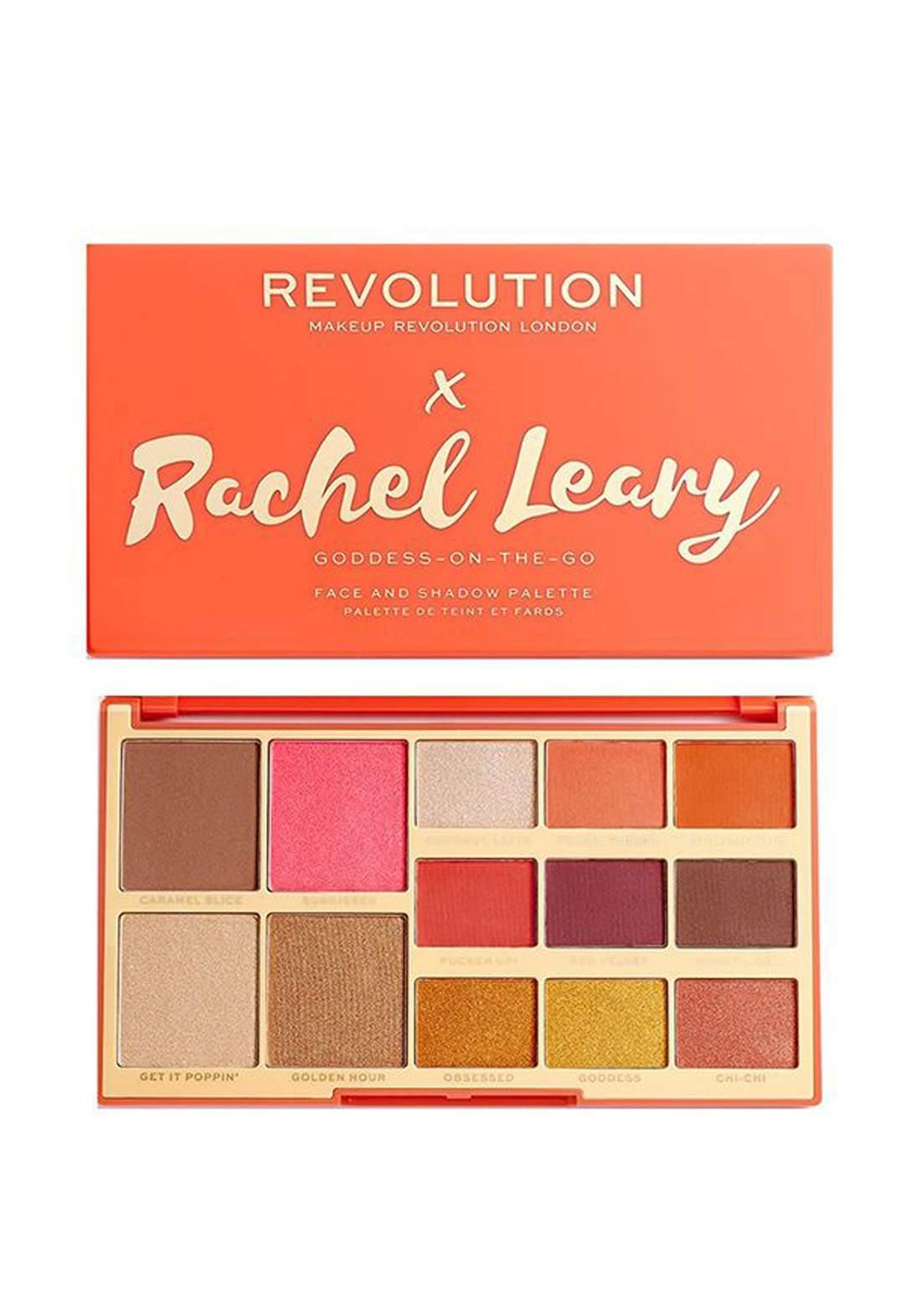 Revolution X Rachel Leary Goddess On The Go Eyeshadow Palette 1.2 G باليت