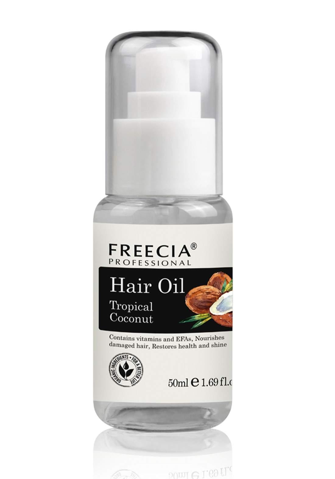 Freecia Tropical Coconut Hair Oil, 50 ml زيت الشعر