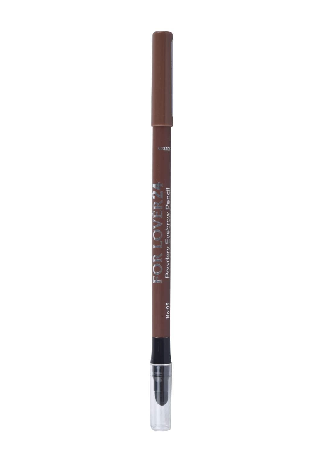 For Lover 24 Powder Eyebrow Pencil No.05 قلم حاجب