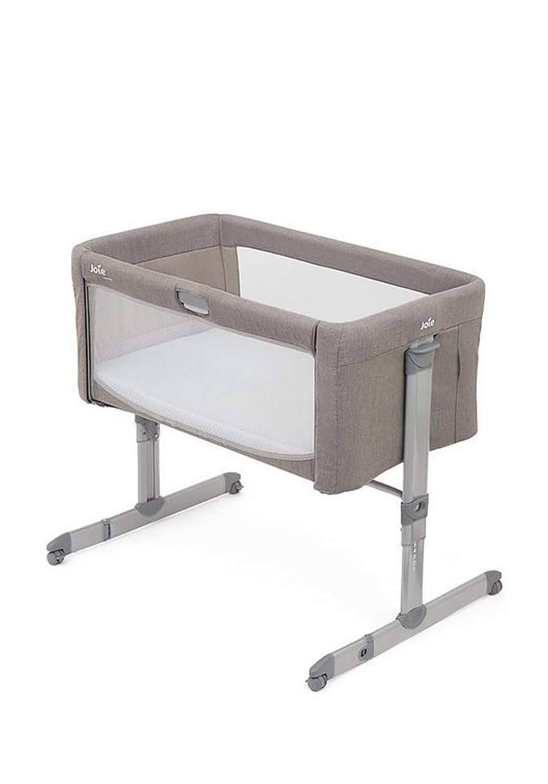 سرير نوم للاطفال 6 اشهر Joie Baby P1814BAWNT000R oomie 5 Piece Bedside Crib Nursery Bundle - Walnut