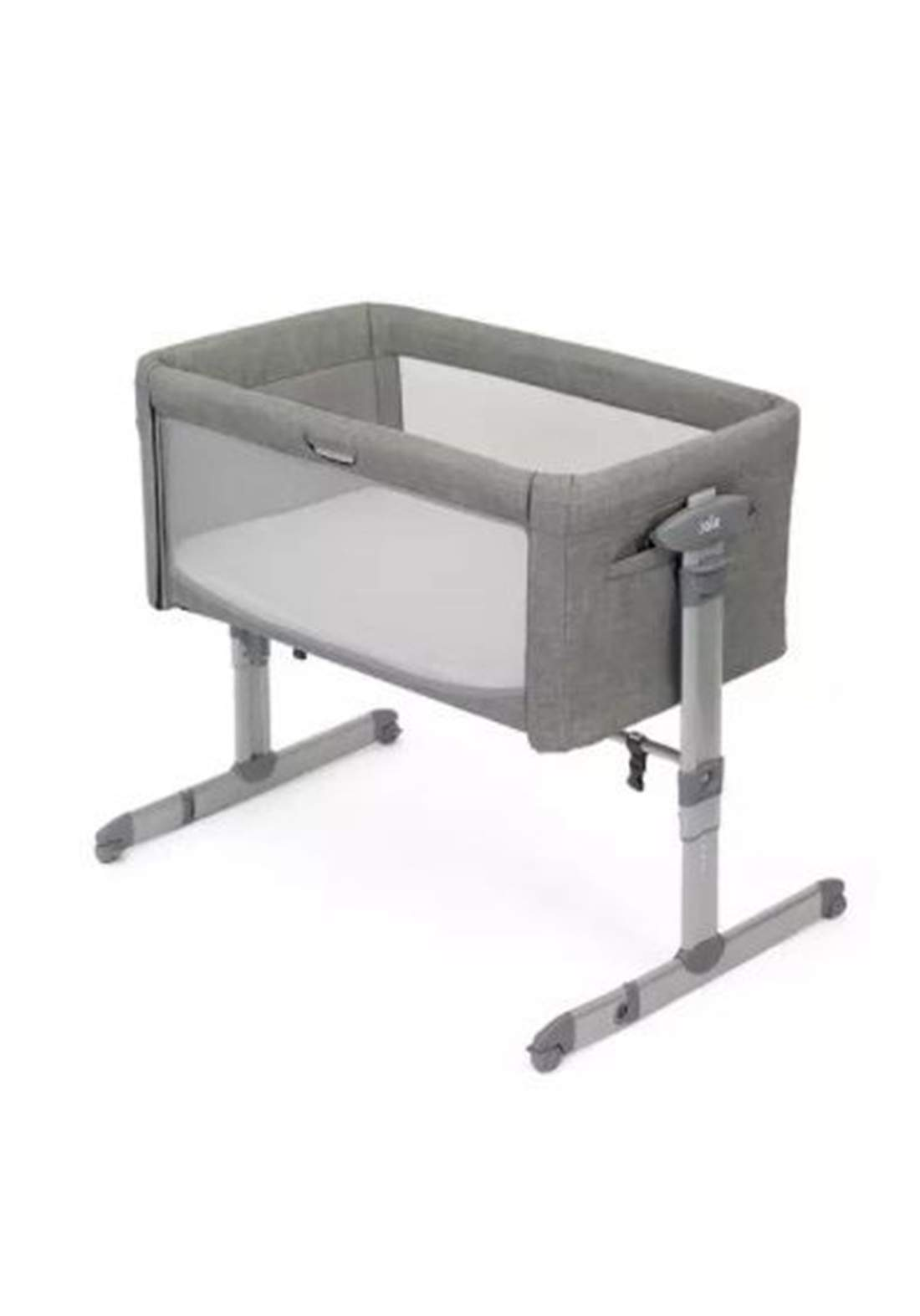 سرير نوم للاطفال Joie Baby P1814AAFGY000 Roomie Glide 5 Piece Bedside Crib Nursery Bundle - Foggy Grey