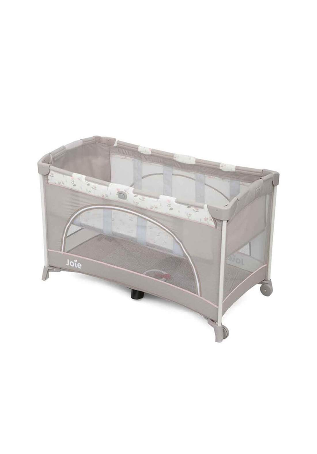 سرير نوم للاطفال Joie Baby P1206BAFLF000 CUNA VIAJE JOIE ALLURA GRIS FLOWERS FORE