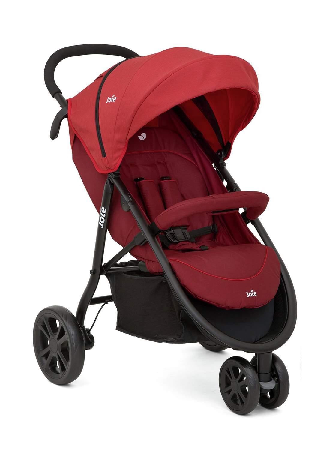 عربة اطفال  10.6 كغمJoie Baby S1112DMCNB000 Litetrax 3 Wheel Stroller - Cranberry