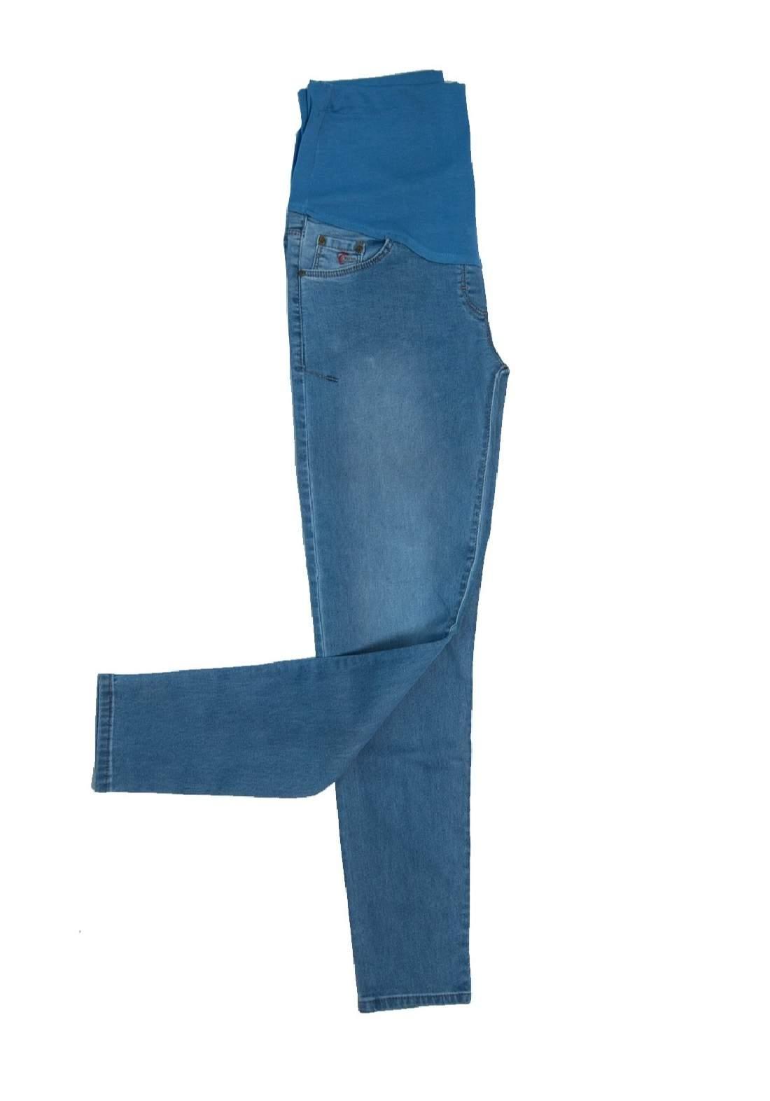 بنطلون جينز نسائي للحوامل ازرق اللون