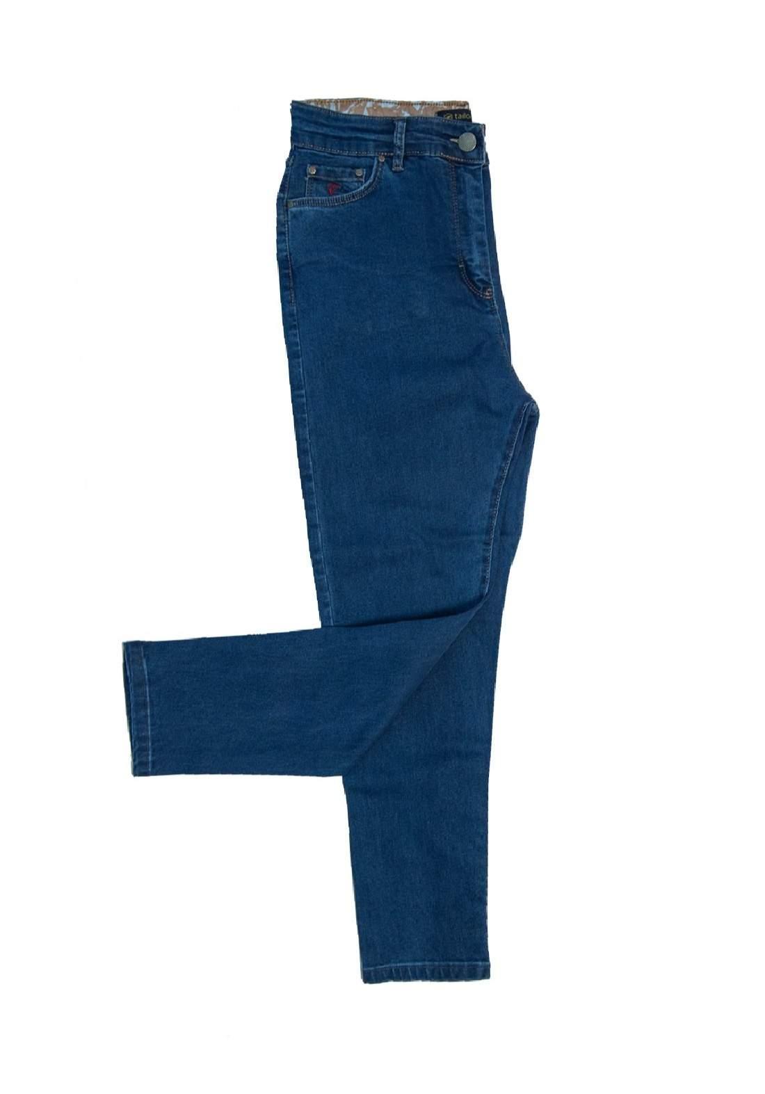 بنطلون جينز باللون الازرق