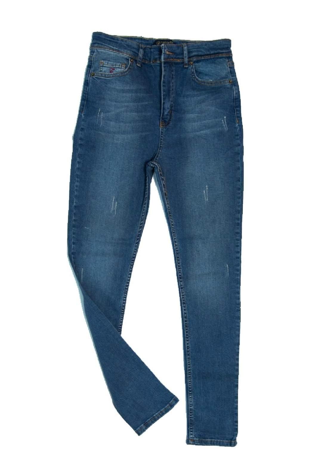 بنطلون جينز نسائي ازرق اللون
