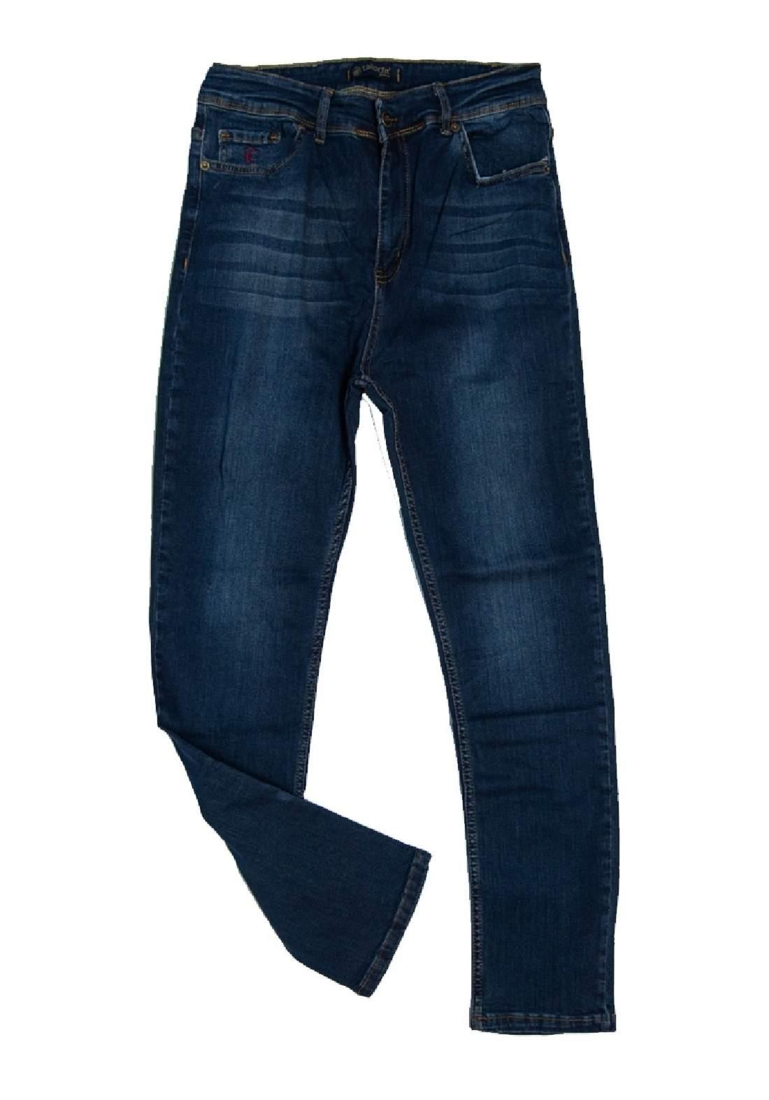 بنطلون جينز نسائي نيلي اللون