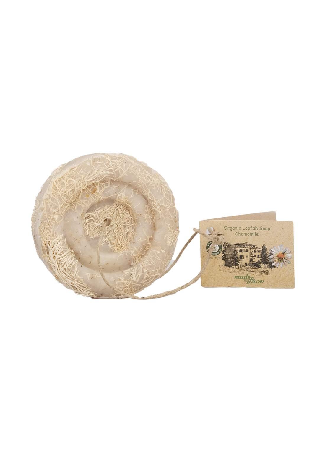 Khan Alsaboun Organic Loofah Soap 50 g  صابون الليفة الطبيعي الممزوج بزهرة وزيت البابونج