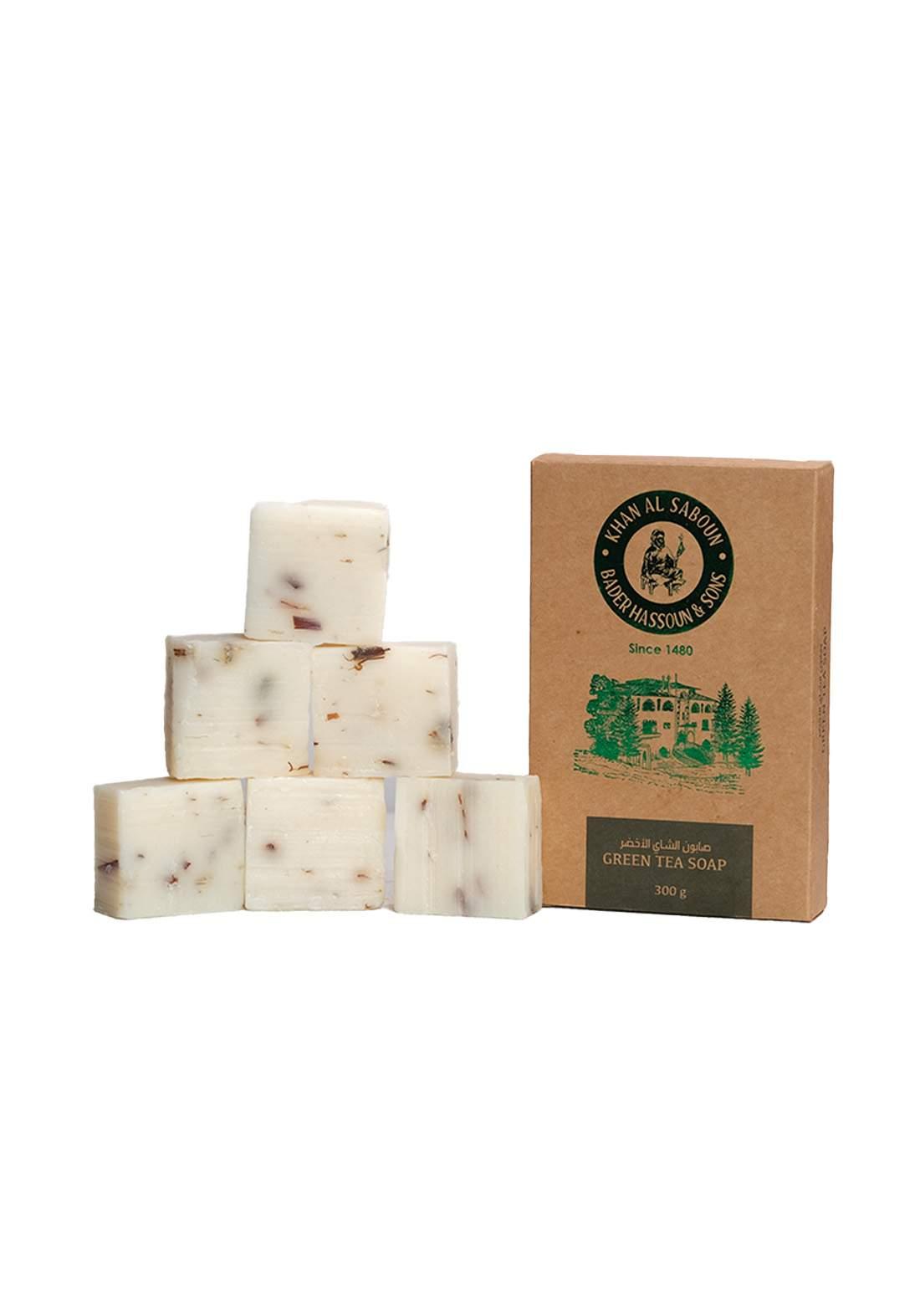 Khan Alsaboun Green Tea Soap 300 g صابون  الشاي الأخضر