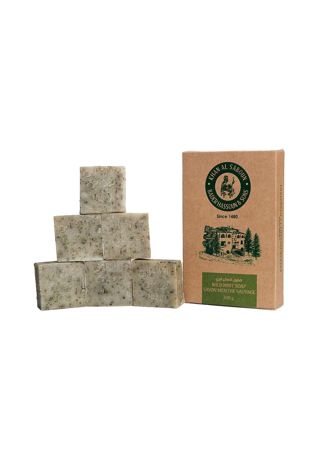 Khan Alsaboun Wild Mint Soap 300 g صابون النعناع