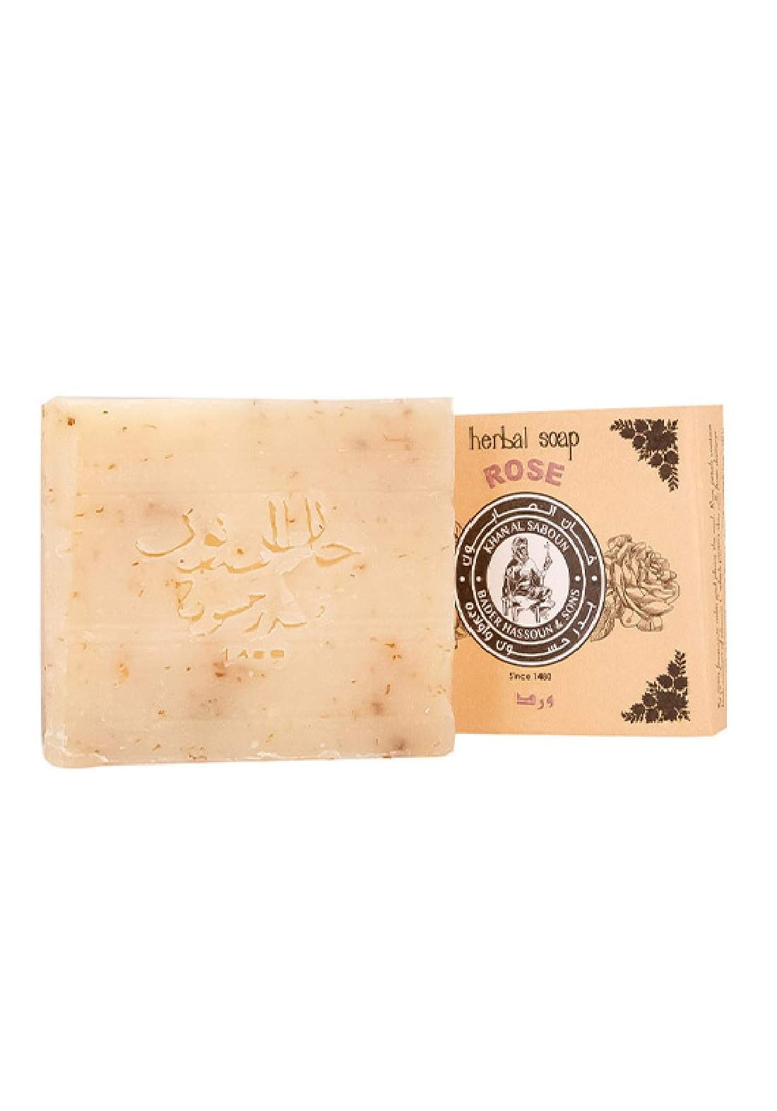 Khan Alsaboun Musk , Rose Soap 80 g صابون ورق الورد الجوري