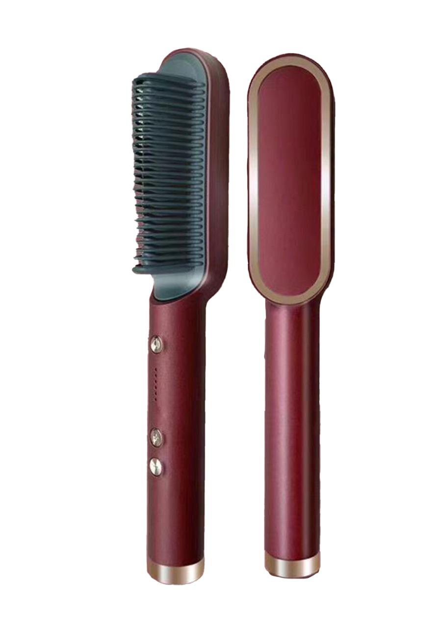 PGS Ring Hair Straightener Brush فرشاة تصفيف شعر كهربائية