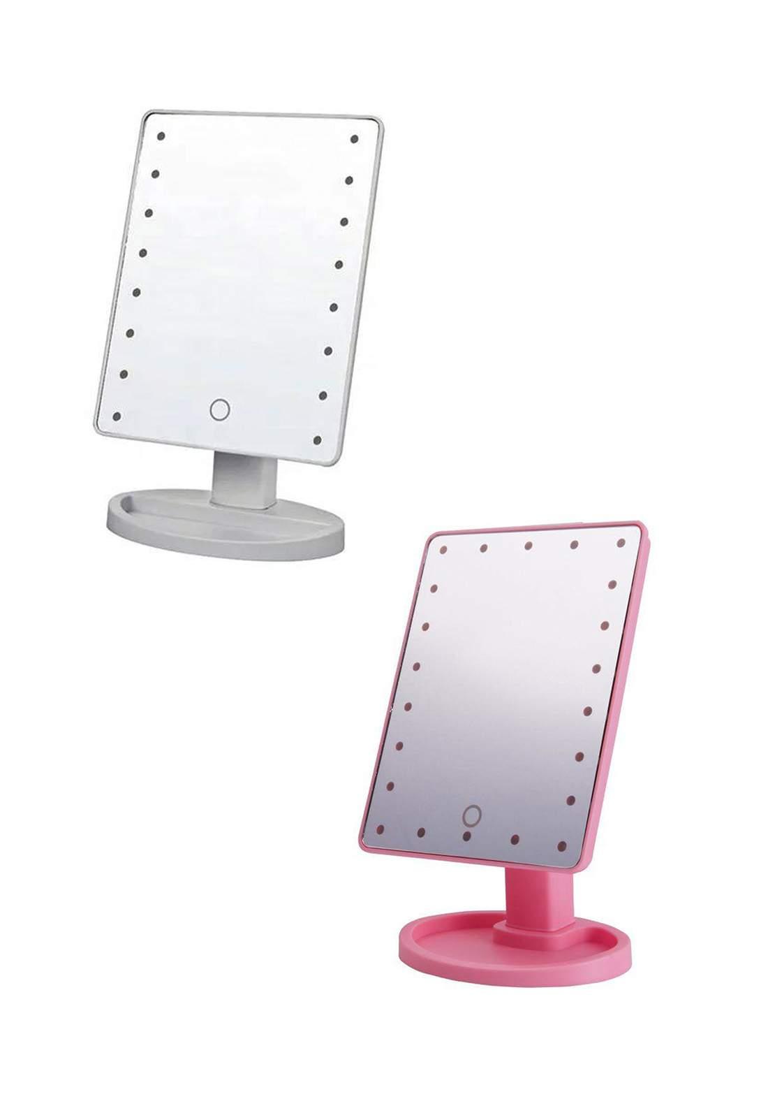 Large Led Mirror مرآة قابلة للدوران مع انارة ضوئية