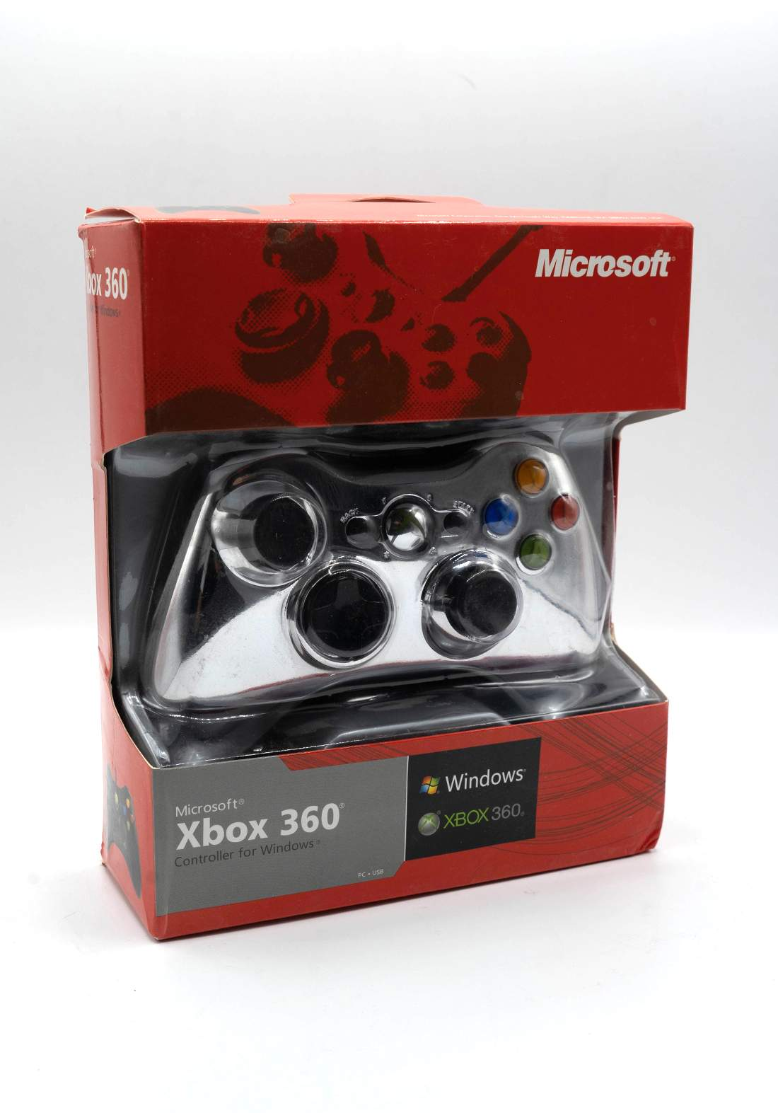 Control Xbox 360 Wired - Silver