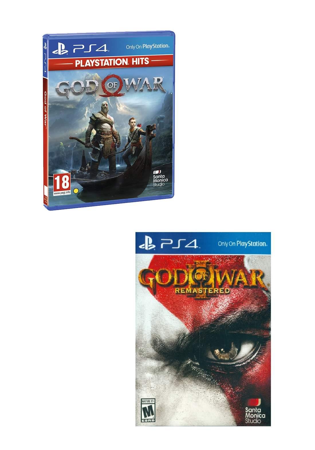 Set of God of War 4 PS4  & God of War 3 PS4  بكج العاب بلاستيشن فور