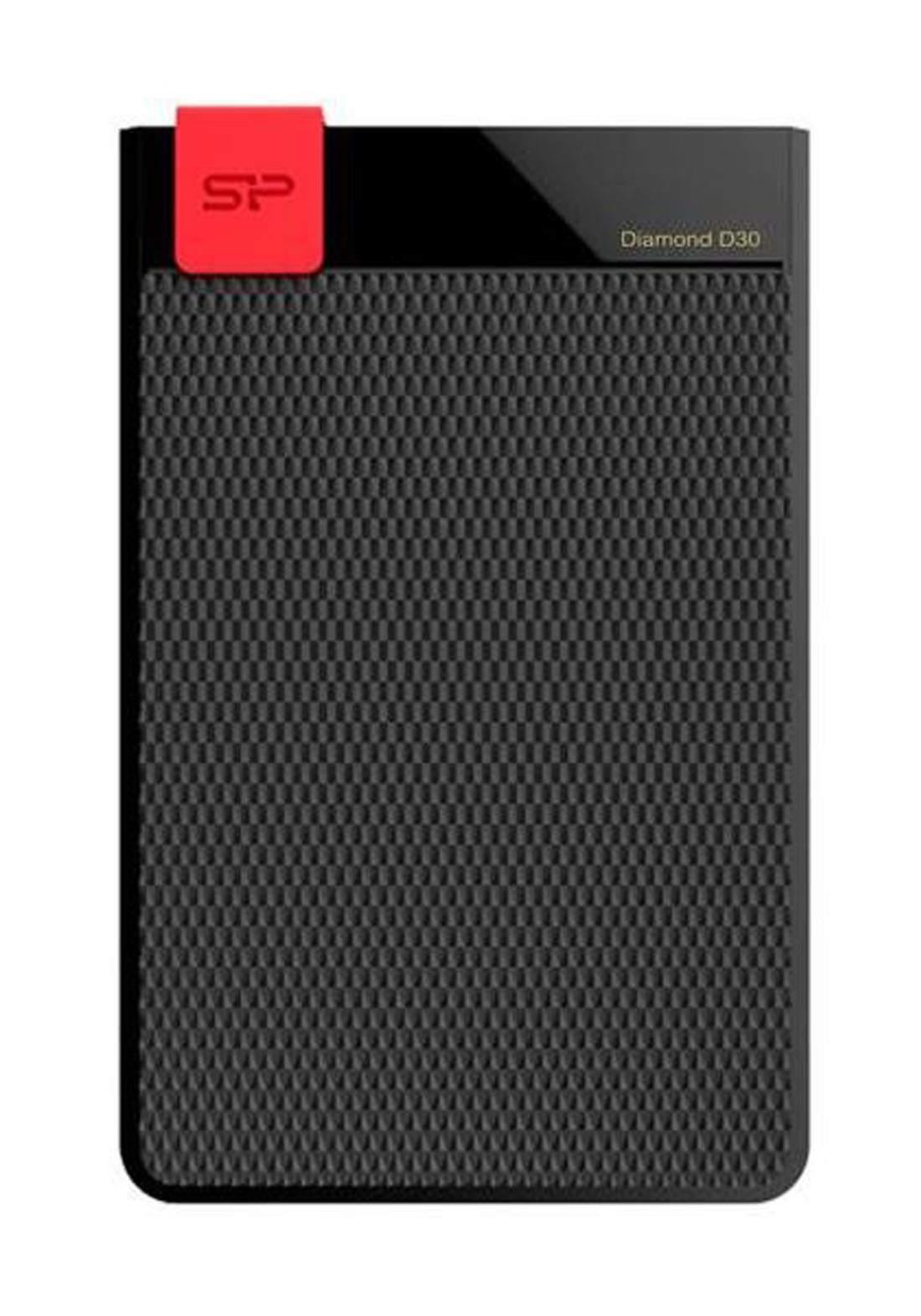 Silicon Power Diamond D30 2TB 3.1 USB Portable Hard Drive - Black هارد خارجي