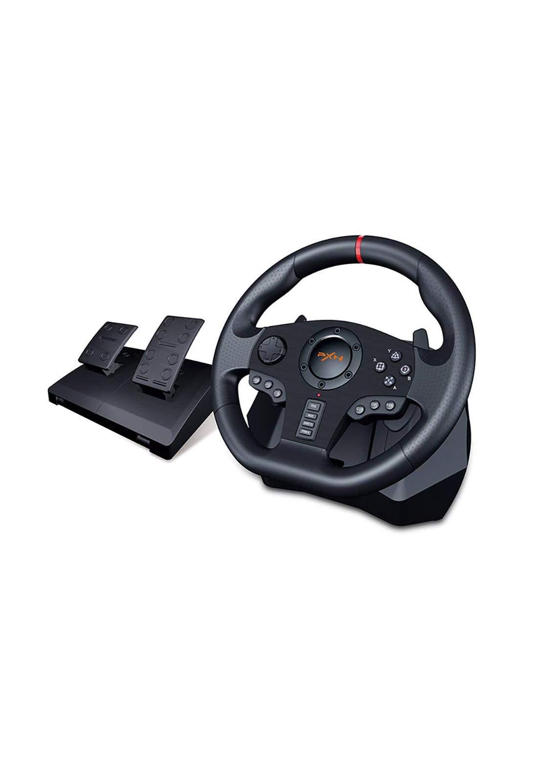 PXN V900  Gaming Racing Steering Wheel with Brake Pedal - Black عجلة قيادة ودواسة العاب