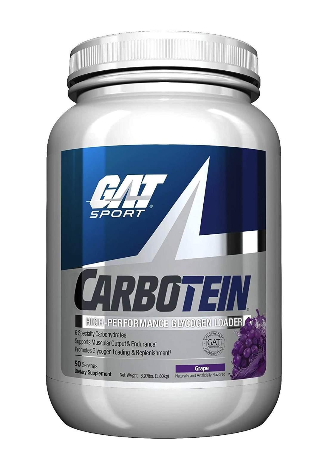 Gat Sport Carbotein Supplement, Grape, 1.80kg مكمل غذئى