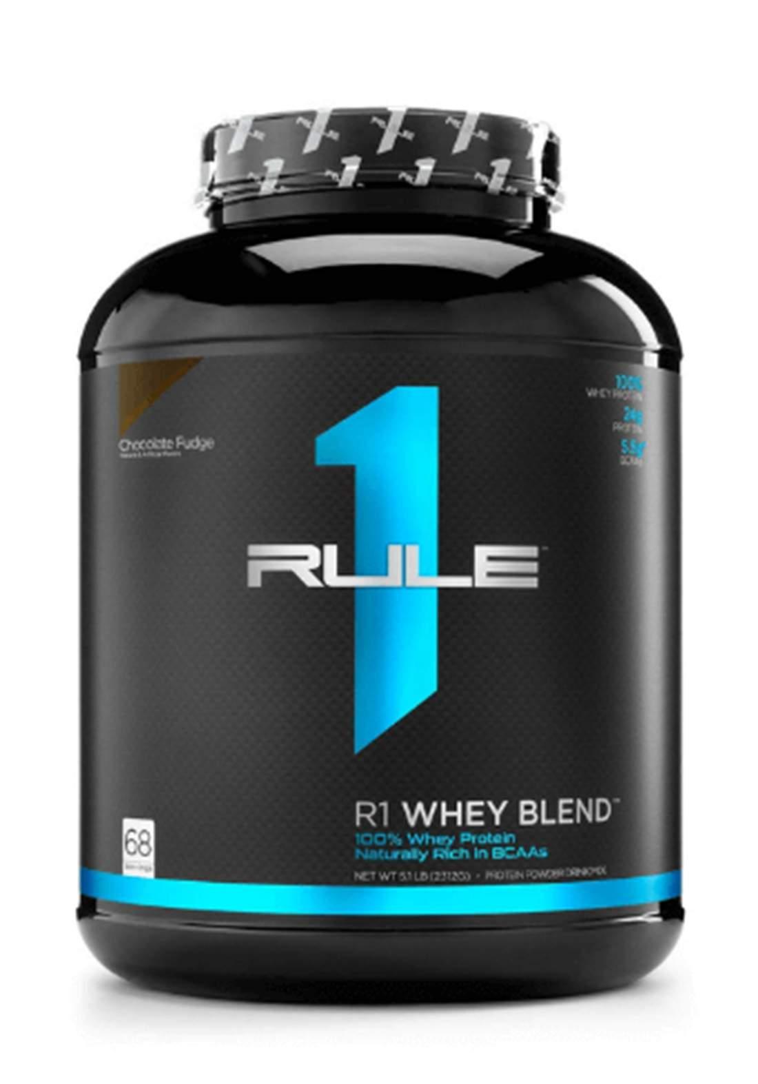 Rule One R1whey Blend Protein Powder - Chocolate Fudge 2312gm مسحوق البروتين