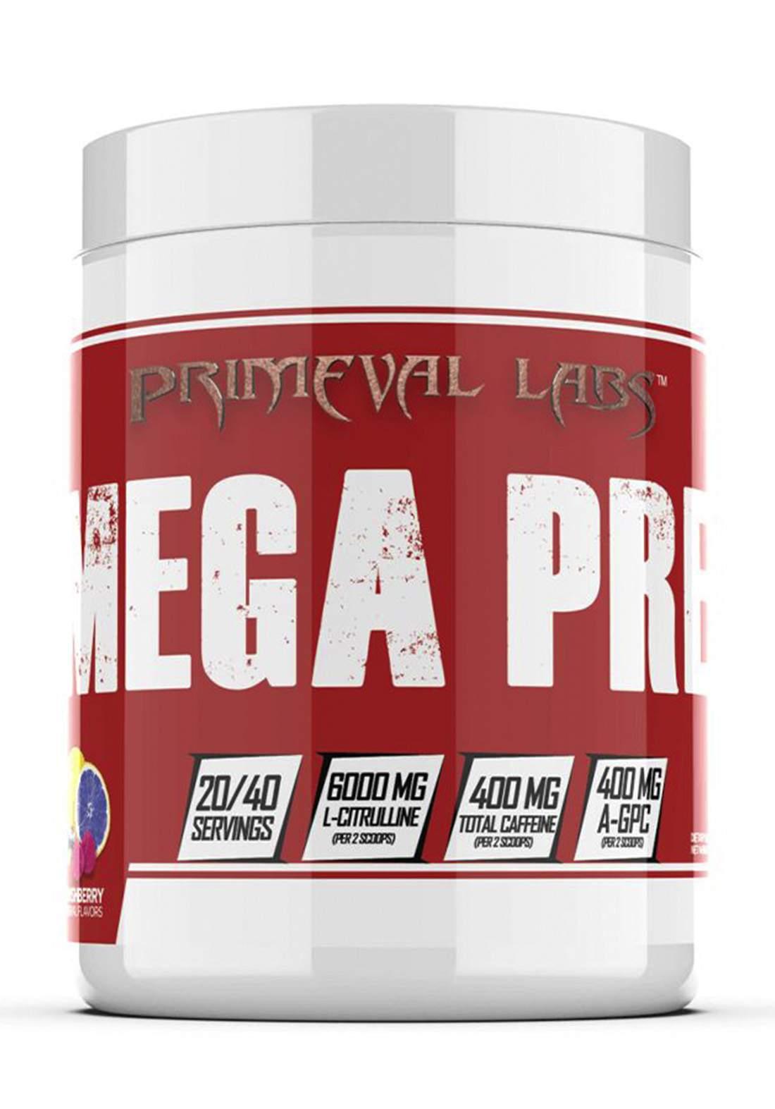 Primeval Labs Mega Pre Red 404g  مكمل غذائي
