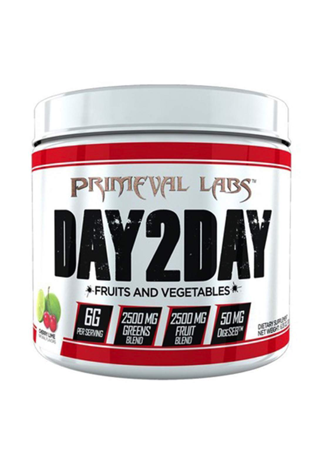 Primeval Labs Day2day Fruits & Vegetables Cherry Lime - 60 Servings مكمل غذائي