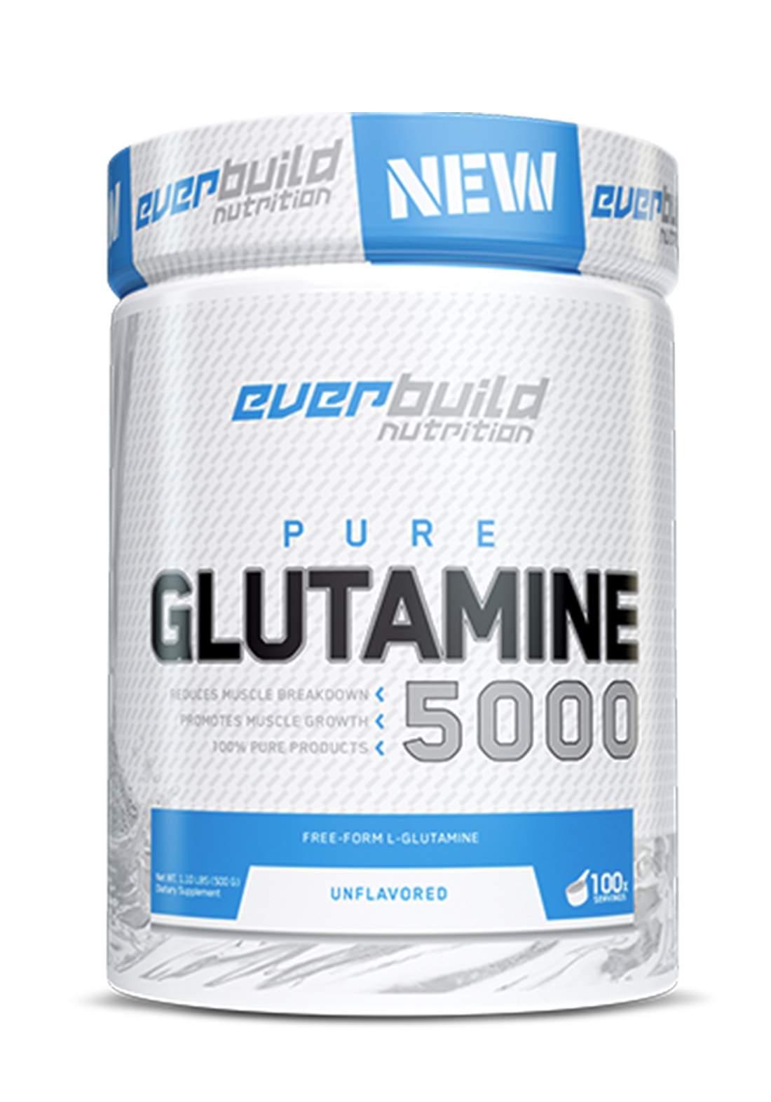 Everbuild Nutrition Glutamine 5000 500g مكمل الجلوتامين الغذائي