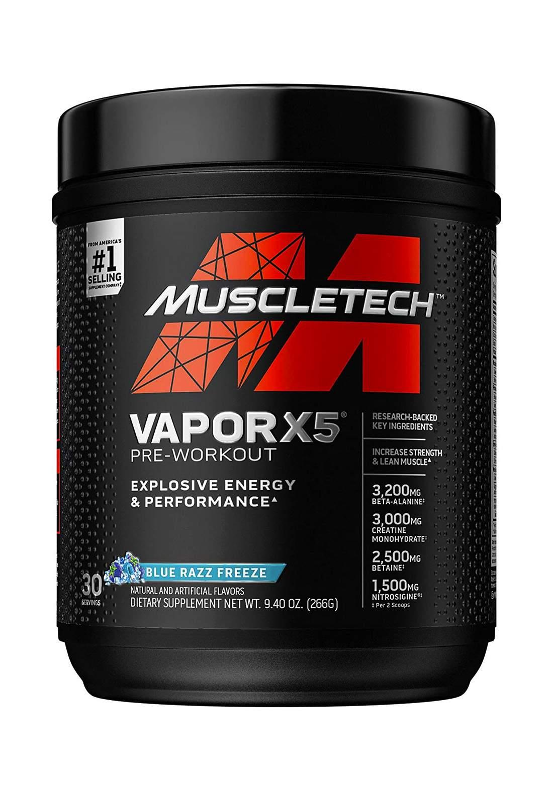 Muscle tech Vapor X5Pre Workout Powder 266g مكمل غذائي