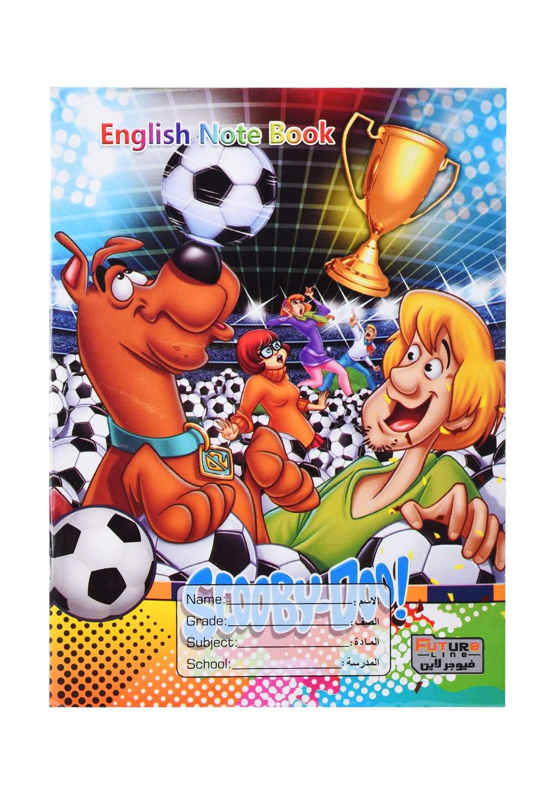 دفتر أنكليزي 92 ورقة برسمة Scooby- Doo