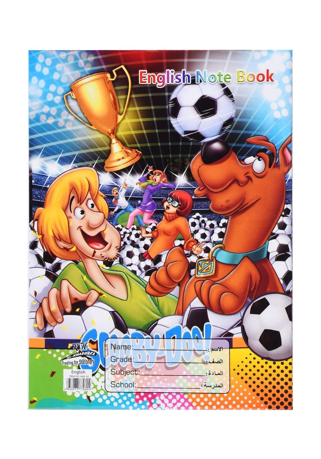 دفتر أنكليزي 52 ورقة برسمة Scooby- Doo