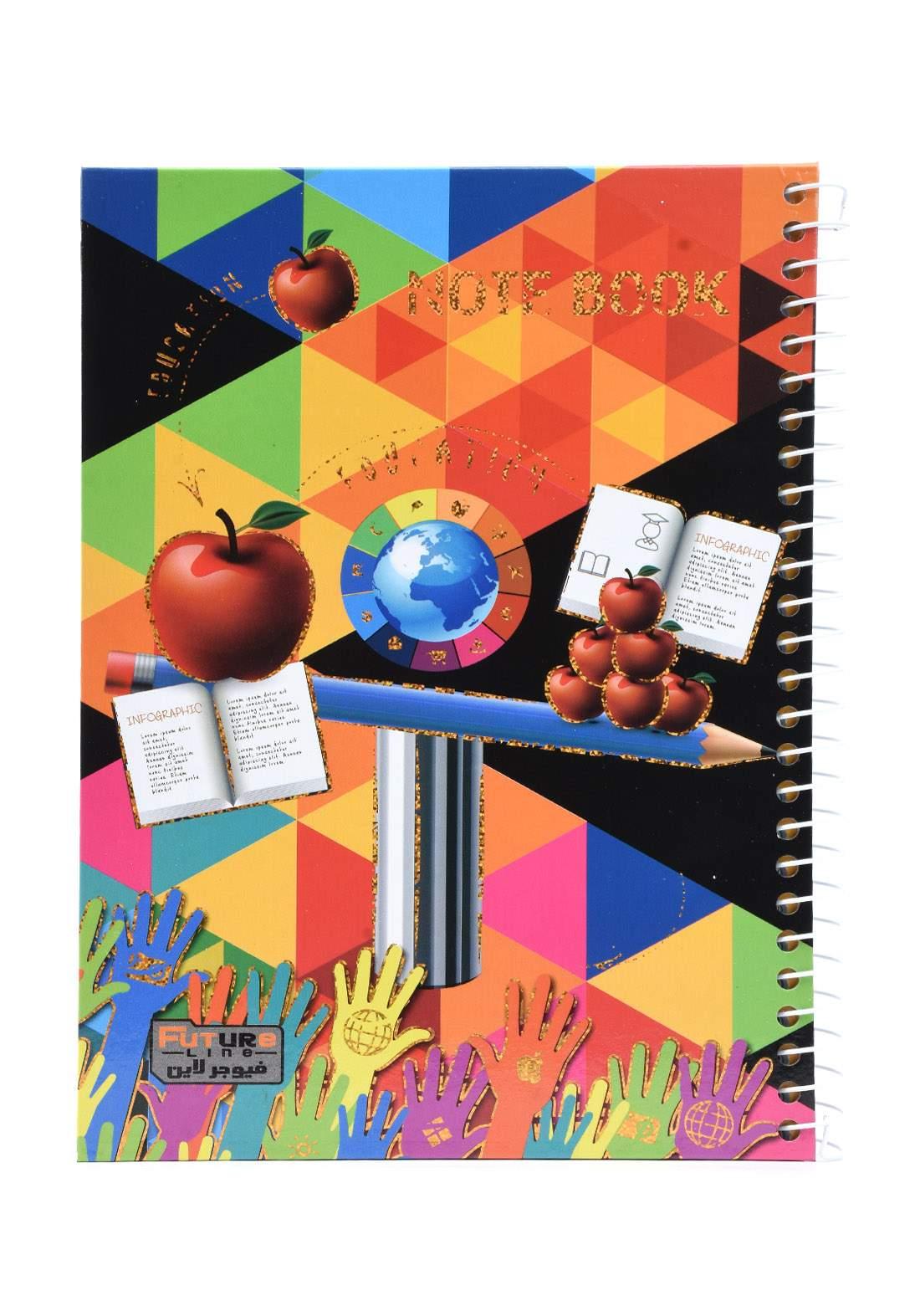 دفتر 100 ورقة سيم برسمة تفاحة وقلم KH-300