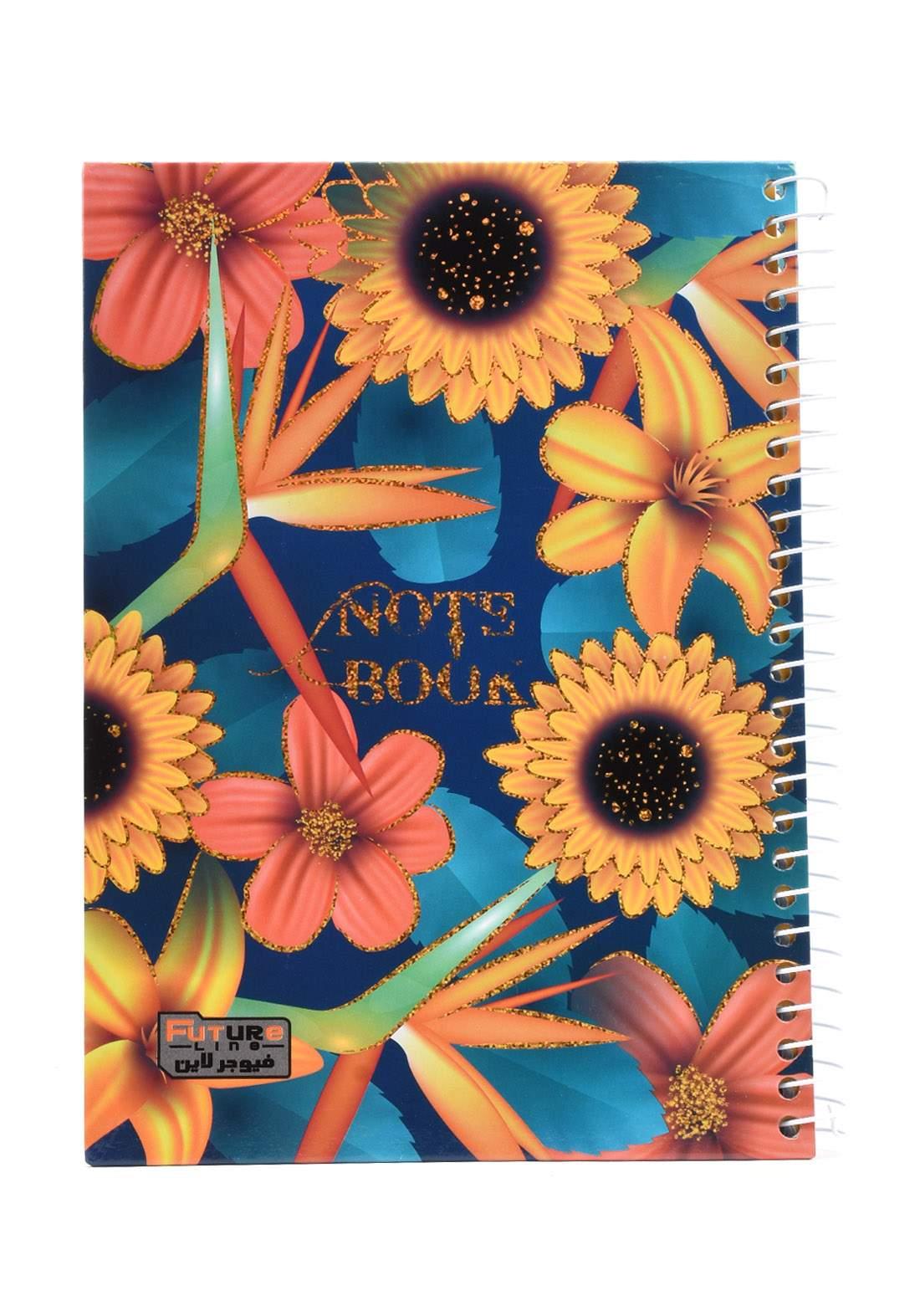 دفتر 100 ورقة سيم برسمة ورد اصفر KH-300