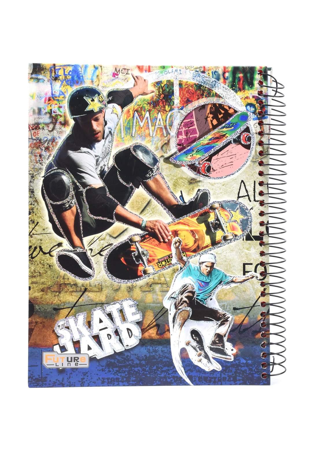دفتر 200 ورقة سيم برسمة Skate Hard KHB-800