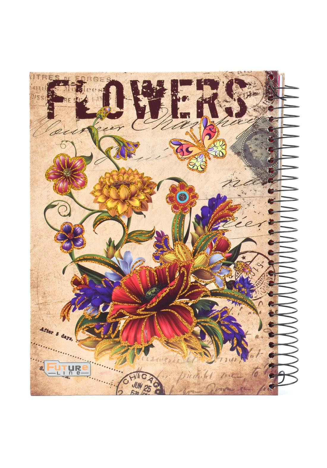 دفتر 200 ورقة سيم برسمة Flowers KHB-800