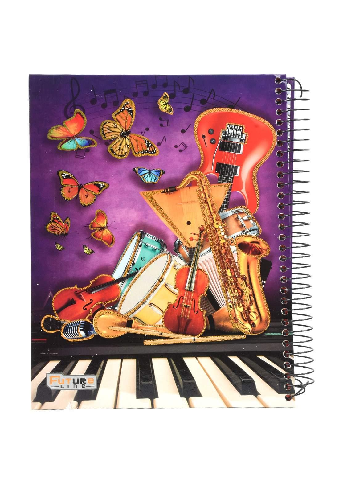 دفتر 200 ورقة سيم برسمة الالات الموسيقية KHB-800